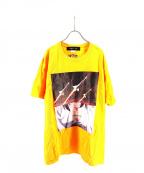 LONELY/論理(ロンリー)の古着「偶像崇拝Tシャツ」|イエロー