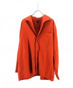 Jean Paul Gaultier homme(ジャンポールゴルチェオム)の古着「比翼シャツ」 オレンジ