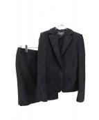 Salvatore Ferragamo(サルヴァトーレ フェラガモ)の古着「デザインセットアップ」|ブラック