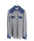 BLUE BLUE(ブルーブルー)の古着「ヒッコリーシャツ」|インディゴ