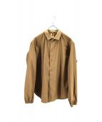 Sanca(サンカ)の古着「スナップボタンシャツジャケット」|カーキ