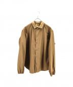 sanca(サンカ)の古着「スナップボタンシャツジャケット」 カーキ