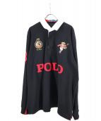 POLO RALPH LAUREN(ポロ・ラルフローレン)の古着「ポロベアラガーシャツ」|ブラック