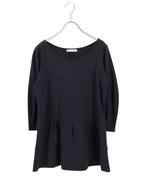 ESTNATION(エストネーション)ESTNATION (エストネーション) ストレッチプルオーバー ネイビー サイズ:38の古着・服飾アイテム