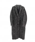 ESTNATION(エストネーション)の古着「ツイードマキシロングコート」|ブラック