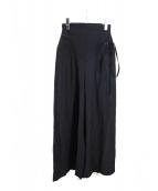 muller of yoshiokubo(ミュラーオブヨシオクボ)の古着「High-waist rib pants」|ネイビー