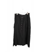 Ys(ワイズ)の古着「フロントボタンスカート」 ブラック