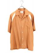 CAL O LINE(キャルオーライン)の古着「ボーリングシャツ」|ベージュ