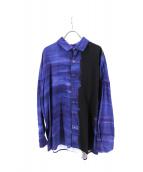 SHAREEF(シャリーフ)の古着「パターンオールオーバービッグシャツ」|ブルー