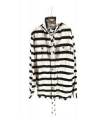 Vivienne Westwood(ヴィヴィアンウエストウッド)の古着「ボーダーデザインシャツ」|ベージュ