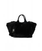 PRADA(プラダ)の古着「エコラパンカナパファートートバッグ」|ブラック