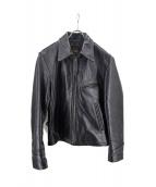 LOST WORLDS(ロストワールド)の古着「ホーズレザージャケット」|ブラック