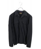 ()の古着「ワークシャツ」 ブラック