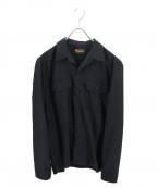 RUDE GALLERY BLACK REBEL(ルードギャラリー ブラックレーベル)の古着「ワークシャツ」 ブラック