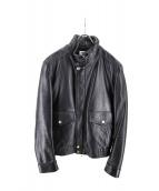 EMMETI(エンメティ)の古着「カウレザージャケット BEAMS別注 」|ブラック