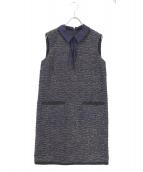 MAX&Co.(マックスアンドコ)の古着「ノースリーブワンピース」|ネイビー