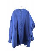 YANTOR(ヤントル)の古着「ロングシャツ」|ブルー