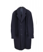 EMPORIO ARMANI(エンポリオアルマーニ)の古着「オーバーサイズウールコート」|ネイビー