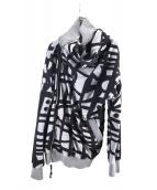Vivienne Westwood man(ヴィヴィアンウエストウッドマン)の古着「デザインジップニットジャケット」|グレー