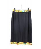LAONARD(レオナール)の古着「デザインスカート」|ブラック