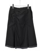 UNDERCOVER(アンダーカバー)の古着「コットンシルクデザインスカート」|ブラック
