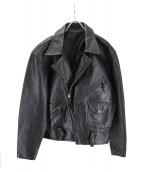 TROJAN(トロ―ジャン)の古着「レプリカホースハイドジャケット」|ブラック