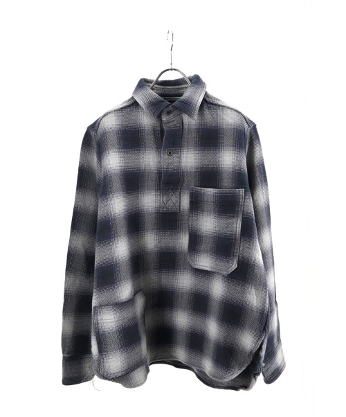 NIGEL CABOURN(ナイジェルケーボン)NIGEL CABOURN (ナイジェルケーボン) OMBRE CHECK P.O.H. SHIRT グレー サイズ:46の古着・服飾アイテム