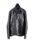 stussy(ステューシ)の古着「カウレザージャケット」|ブラック