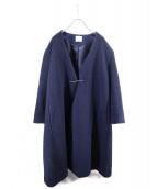 yuni(ユニ)の古着「カシミヤ混コート」|ネイビー