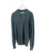 JOHNSTONS(ジョンストン)の古着「ニットポロシャツ」|グリーン