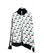 Palm Angels(パームエンジェルス)の古着「Night Mono jersey jacket」|ホワイト×ブラック