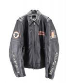 HARLEY-DAVIDSON(ハーレーダビットソン)の古着「キルティングライナー付レザージャケット」|ブラック