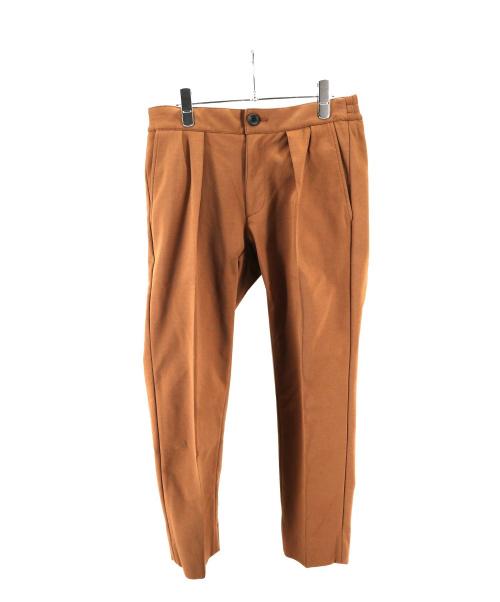 RAINMAKER(レインメーカー)RAINMAKER (レインメーカー) センタープレスパンツ ブラウン サイズ:3の古着・服飾アイテム