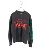 ARIES(アリーズ)の古着「COLUMN CREW SWEAT」|グレー