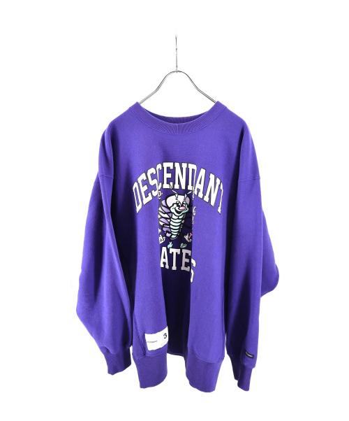 DESCENDANT(ディセンダント)DESCENDANT (ディセンダント) CRUSTAR CREW NECK SWEATSHIRT 0 ブルー サイズ:3 19AWの古着・服飾アイテム