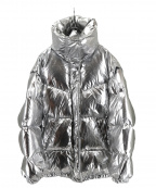 MM6(エムエムシックス)の古着「シルバーパファースポーツジャケット」|シルバー