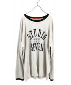 STUDIO SEVEN(スタジオ セブン)の古着「Logo Ringer L/S Tee」|ホワイト