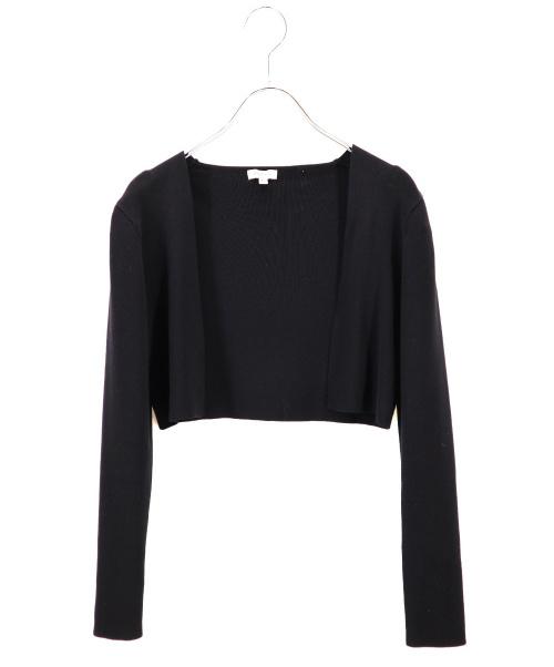 TOCCA(トッカ)TOCCA (トッカ) リブショートボレロ ブラック サイズ:XSの古着・服飾アイテム