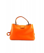 GIANNI CHIARINI(ジャンニ・キャリーニ)の古着「ショルダーバッグ」|オレンジ