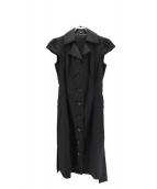 BURBERRY LONDON(バーバリーロンドン)の古着「ノースリーブシャツワンピース」|ブラック