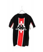 MARCELO BURLON×KAPPA(マルセロバーロン×カッパ)の古着「Tシャツ」|ブラック