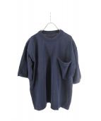 crepuscule(クレプスキュール)の古着「Pocket Knit S/S」|ネイビー