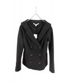 VERONICA BEARD(ベロニカビアード)の古着「open v-neck collar blazer」|ブラック
