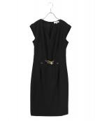 Calvin Klein(カルバンクライン)の古着「Gold Zip Shift Dress」|ブラック