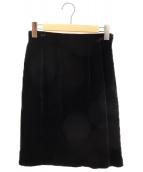 COMME des GARCONS(コムデギャルソン)の古着「ベロアタイトスカート AD1991」|ブラック
