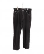Vaporize(ヴェイパライズ)の古着「Stitch Cut Shoe Pants」 ブラック