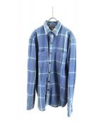 RRL(ダブルアールエル)の古着「チェックシャツ」|ブルー