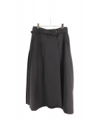 Ameri VINTAGE(アメリビンテージ)の古着「BACK PLEATS SKIRT」|ブラック