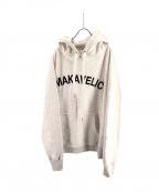 MAKAVELIC(マキャベリック)の古着「LOGO PO HOODIE」|グレー×ブラック