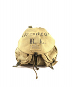 DENIM & SUPPLY RALPH LAUREN(デニムアンドサプライ ラルフローレン)の古着「ミリタリーキャンバスリュック」|ベージュ×グリーン